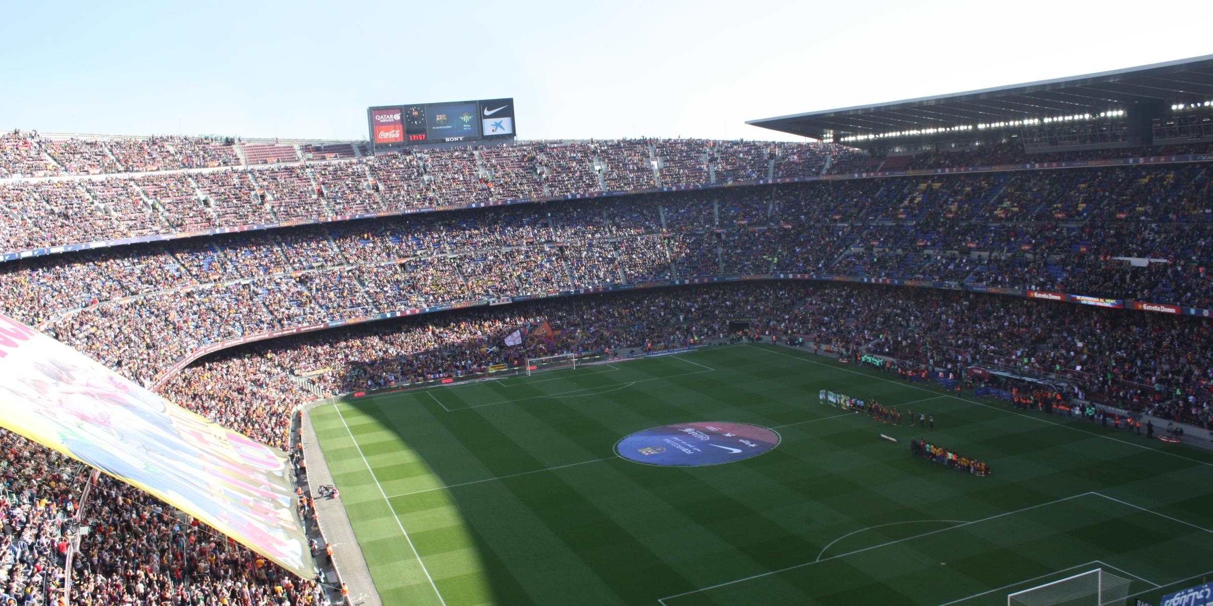 Fußball: Stadion Camp Nou des FC Barcelona