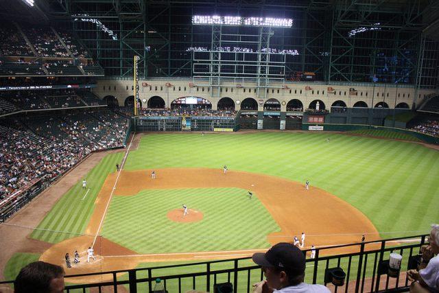 Das Spielfeld der Houston Astros