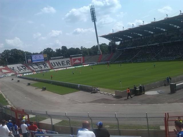 Testspiel Hertha BSC gegen Karlsruhe im Wildparkstadion.