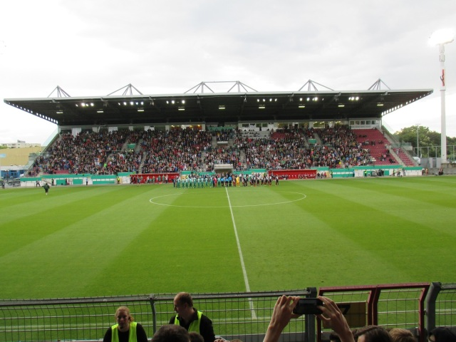 Spielfeld des Bruchwegstadion in Mainz
