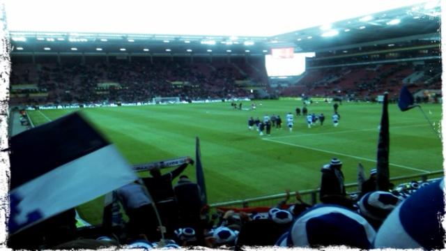 Hertha Fans im Mainzer Gästeblock